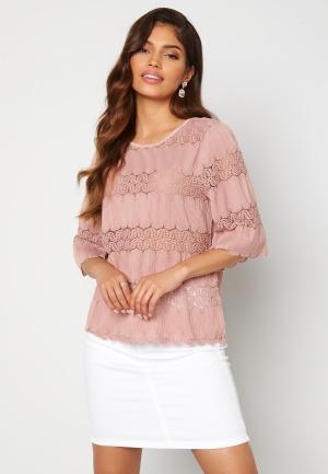 Happy Holly Maria kimono sleeve top Dusty pink 44/46