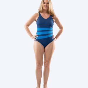 Watery Mystique Stripes One Piece Dame - Navy Blå