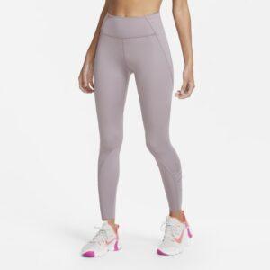 Blondebesatte Nike One Luxe-7/8-leggings til kvinder - Lilla
