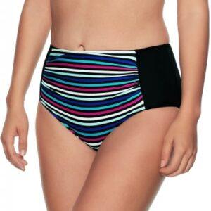 Wiki Alicante Midi Shape Bikini Brief Sort stribet 36 Dame