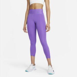 Ankellange Nike One Luxe Icon Clash-leggings med mellemhøj talje til kvinder - Lilla