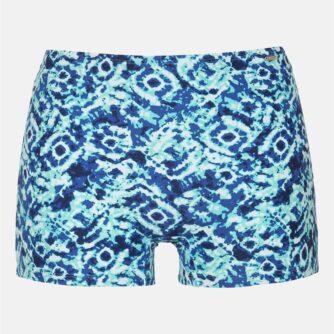 Blåmønstrede bikinitrusser hotpants