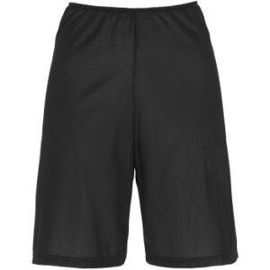 Damella Microfiber Waist Slip Shorts Sort polyester 36 Dame