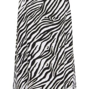 Dyremønstret nederdel med slidser