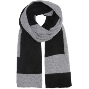 Scarf recycle knit - Stripe recycle knit black