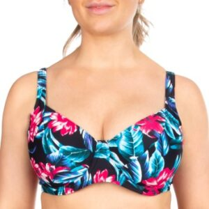 Trofe Tropical Nice Underwired Bikini Bra Sort blomstret C 38 Dame